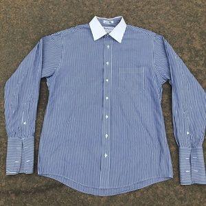 Vintage Burberrys Vertical Striped Button Down
